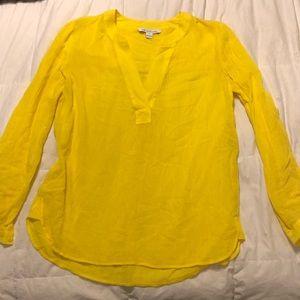 Diane Von Furstenberg Yellow blouse size 10